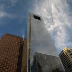 Philadelphia: Wolken spiegel sich im Comcast Center