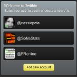 Auswahl aus mehreren Twitter-Accounts