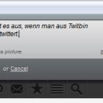 So sieht es aus, wenn man twittert