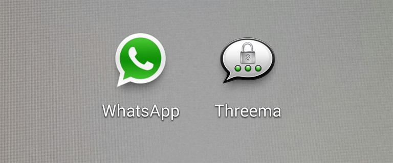 WhatsApp und Threema
