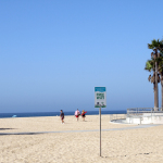 In L.A. gibts kostenloses Wifi - sogar am Strand © Tanja Banner