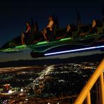 Achterbahn in 300 Metern Höhe, auf dem Stratosphere Tower. © Tanja Banner