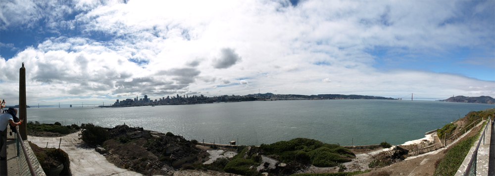 Panorama: Blick von Alcatraz nach San Francisco. © Tanja Banner