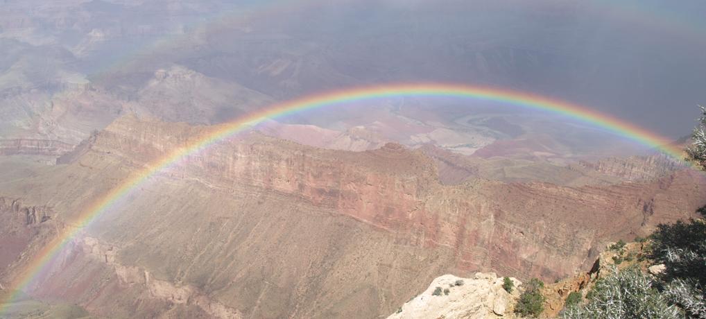 Regenbogen über dem Grand Canyon. © Tanja Banner