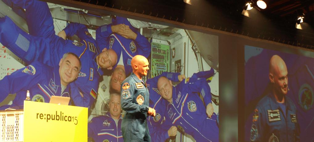 Astronaut Alexander Gerst auf der re:publica. © Tanja Banner