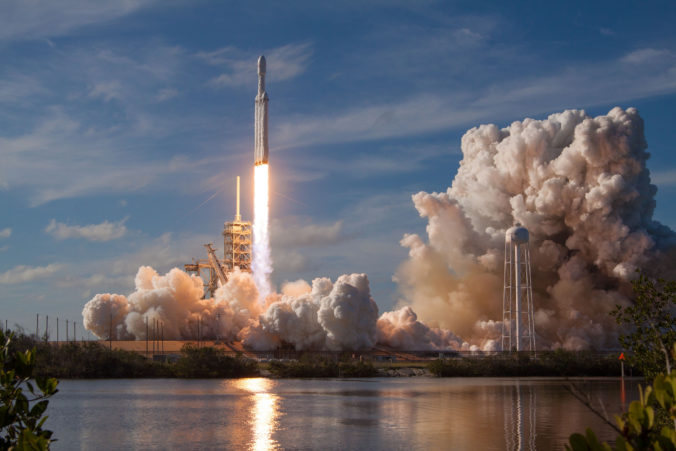 """Falcon Heavy"" von SpaceX startet. © SpaceX"